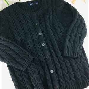 Gap Black Cable Knit Cardigan